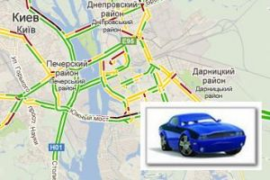 Автомобильная карта Киева