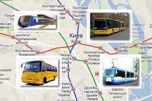 Карта Киева транспорт