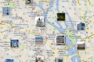 Карта достопримечательностей Киева