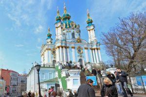 3D прогулка по улице Андреевский спуск в Киеве