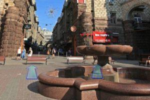 Виртуальный 3D обзор вход в киевский Пассаж на Крещатике