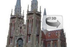 3D макет Римско-католический костёл Святого Николая