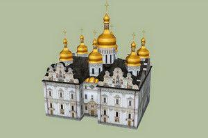 3D макет Успенского собора в Киево-Печерской Лавре