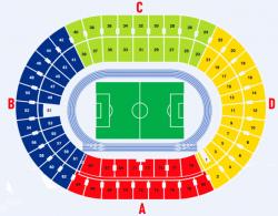 Схема секторов на стадионе НСК Олимпийский в Киеве