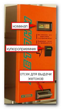 Автомат жетон продажа 6