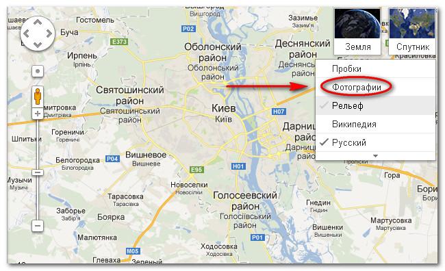 Карта достопримечательностей Киева 1