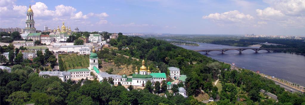 Панорама Киево-Печерской лавры