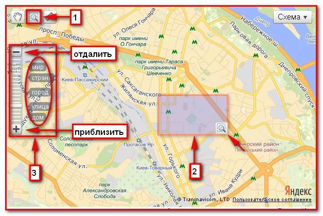 Электронная карта Киева.2