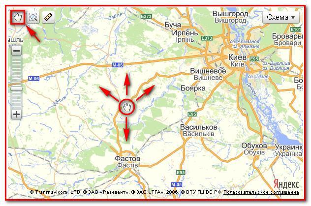 Электронная карта Киева