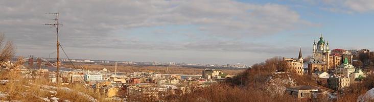 панорама Замковой горы
