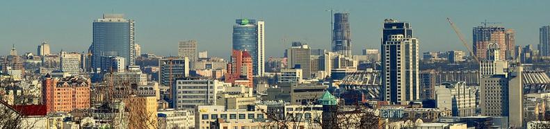 панорама делового центра Киева