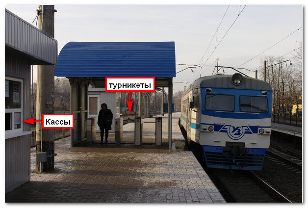 Турникеты скоростной электрички в Киеве 1
