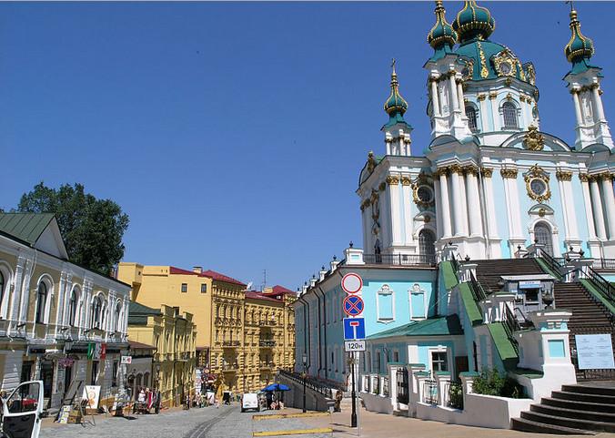 Андреевская церковь на Андреевском спуске в Киеве