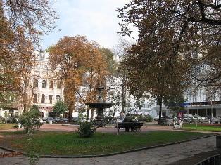 Площадь Ивана Франко возле одноименного театра