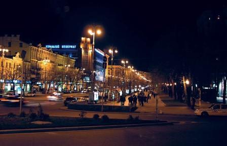 Вечерний киевский крещатик