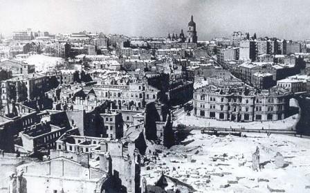 Киевская Площадь Независимости (Калинина) в 1944 году