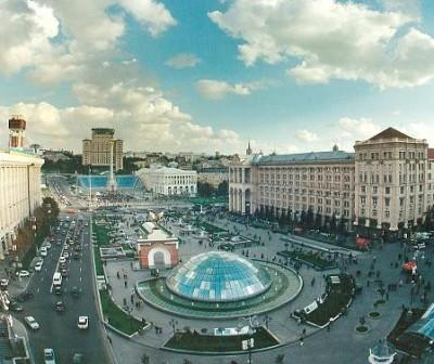 Площадь независимости панорамное фото Киев