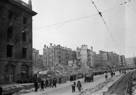 Руины Крещатика после великой отечественной войны