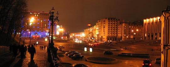 Вечерняя Европейская площадь в Киеве