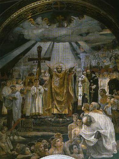 Крещени Руси князем Владимиром фреска