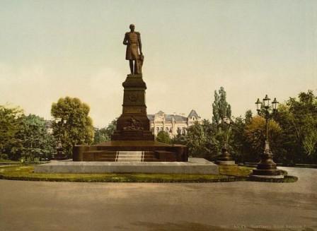Памятник николаю 1 в университетском парке (парке т.г . шевченко  1917 год