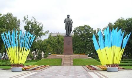 Памятник поэту Тарасу Григориевичу Шевченко в  парке Киева