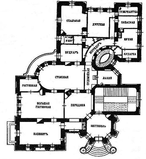 План-схема дом с химерами