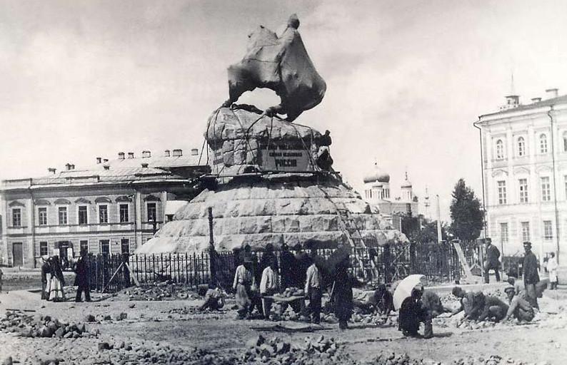 Установка памятник Богдан Хмельницкий Киев