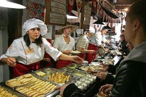ресторан Пузата Хата Киев внутри