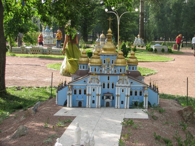 Михаловский собор в миниатюре Киев