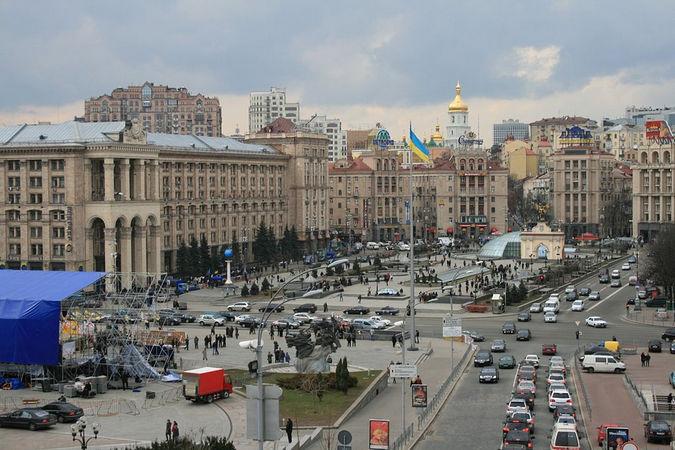 Площадь Независимости и улица Крещатик в Киеве