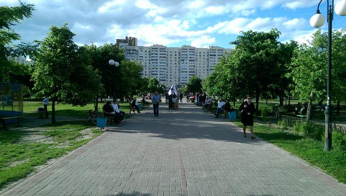 Центральная аллея парк Позняки