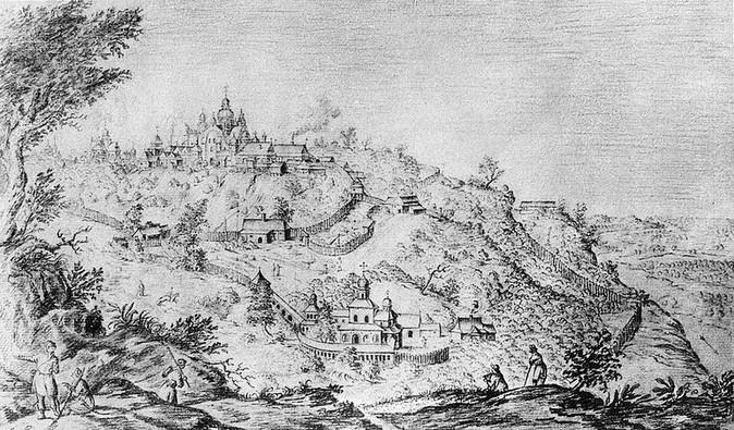 Киево Печерская Лавра в 1651 году (старые фотографии)
