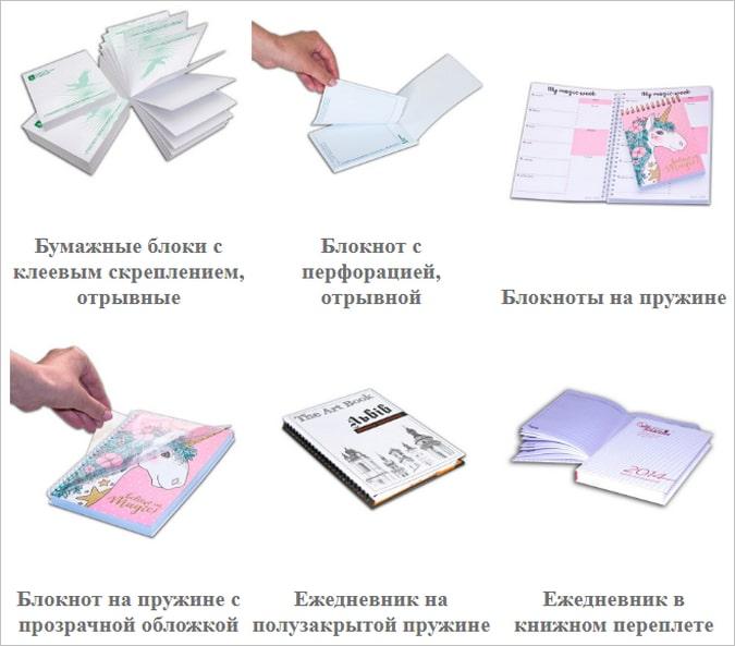 печать блокнотов с индивидуальным дизайном